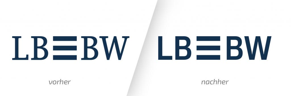 LBBW Logo Design Vorher Nachher